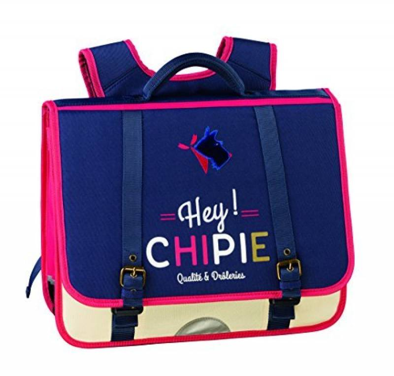 CHIPIE Hey Dog Cartable, 41 cm, Bleu/Ecru 400078271 de la marque Chipie TOP 4 image 0 produit